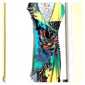 Floral Joseph Ribkoff dress size 6